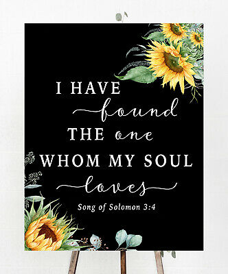 ~Wedding Sign~I have found love~Sunflowers.Rustic/Chic~11''x14''Chalkboard PRINT