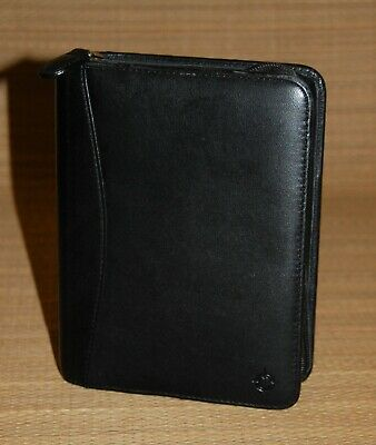 Black Pocket Franklin Covey Planner Binder Nappa Leather 1 Rings