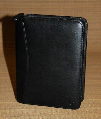 Black Pocket Franklin Covey Planner Binder Nappa Leather 1 Rings