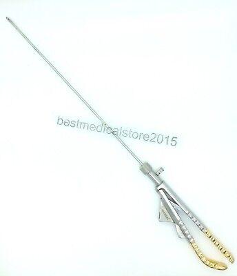Laparoscopy Golden Needle Holder Curved 5 Mm Addler