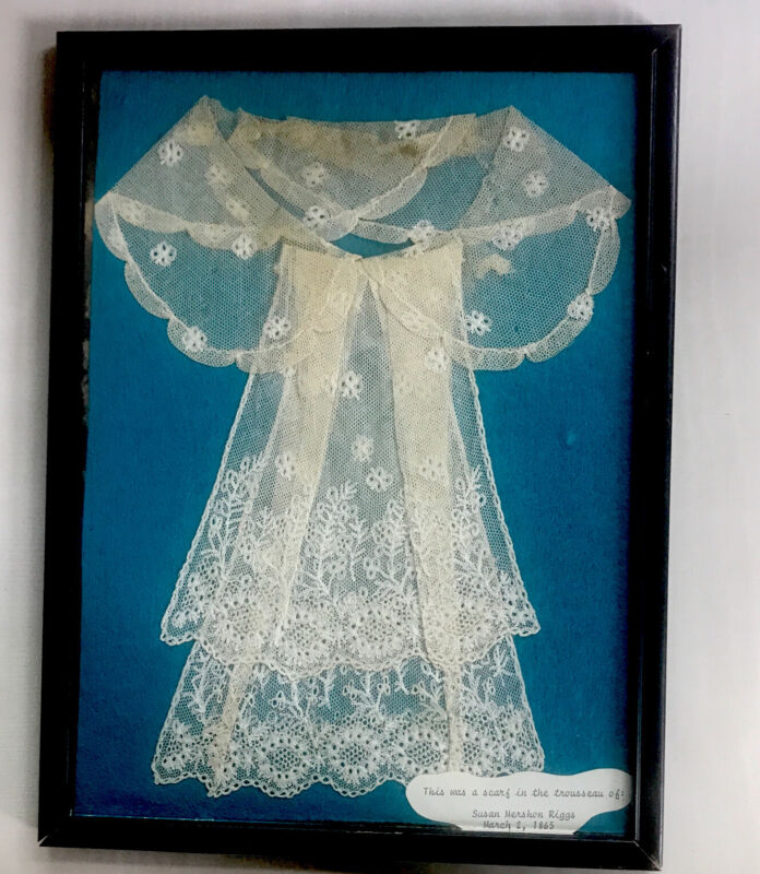 antique lace scarf c1860 From The Trousseau Of Susan Riggs Princton NJ