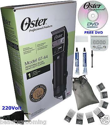 Oster 97 Classic ex2s Professional Hair Clipper 220v 76097-440 PLUS 7 Combs Set segunda mano  Embacar hacia Argentina