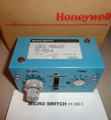HONEYWELL MICROSWITCH FE-TR3-4 PHOTOELECTRIC CONTROL TR LOGIC MODULE FETR34 NEW