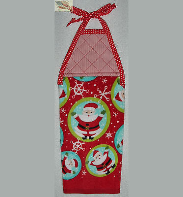 hanging kitchen towel with tie strap and padded machine quil