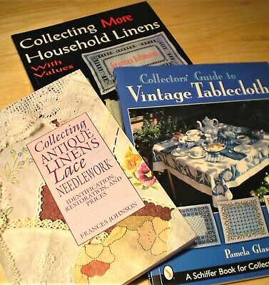 Vintage Tablecloth Collecting Book Lot of 3 XCLNT Condition!
