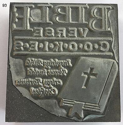 Kwikprint Bible Verse Cookies..... Hot Foil Printing Cast Die