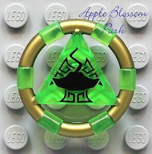 NEW-Lego-Atlantis-Trans-GREEN-TREASURE-KEY-Manta-Sting-Ray-Minifig-Symbol-8078