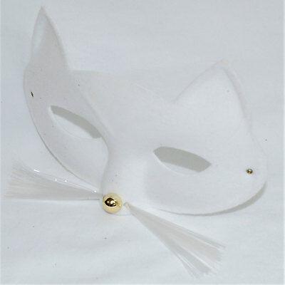 White Cat Mask Whiskers Fancy Dress Costume Masquerade Ball World Book Day - World Globe Halloween Costume