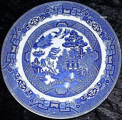 England Willow (TELLER ALLERTONS ENGLAND BLUE WILLOW STEINGUT 1930er Jahre)