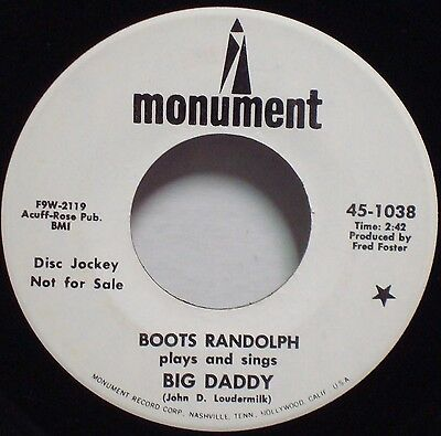 BOOTS RANDOLPH Big Daddy--Love Letters RARE NM 1967 1ST PRESS DJ PROMO 45 (Big Daddy Boots)