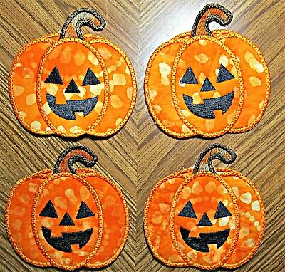 Halloween Decorations For Pumpkins (Coasters for drinks, Halloween, pumpkins, kitchen decor,dining decor,  party)