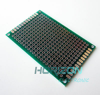 Double Side Prototype Pcb Bread Board Tinned Universal 40x60 Mm Fr4