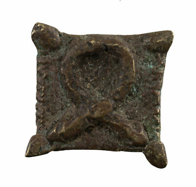 Weight Akan IN Weigh L'Or Brass 14 G Ashanti Art African Figure Geometric 575