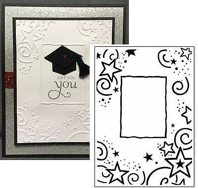 Stars Embossing folder Border Frame Crafts Too folders CFD3031 - Graduation Border