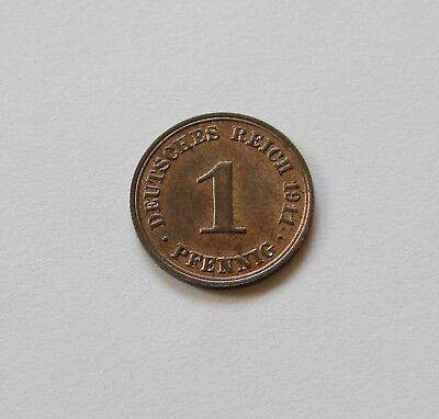 KAISERREICH: 1 Pfennig 1911 A, J. 10, stempelglanz,  II.
