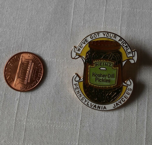 PENNSYLVANIA Heinz Kosher Dill Pickles JAYCEES  PIN hat lapel collectible