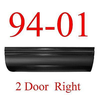 94 01 Dodge RIGHT Front Lower Door Skin, Regular Cab, Ram Truck, 2 Door