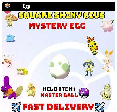 2 MYSTERY SHINY EGGS Pokemon Sword & Shield Hatch Your Own Shiny Eggs FAST TRADE