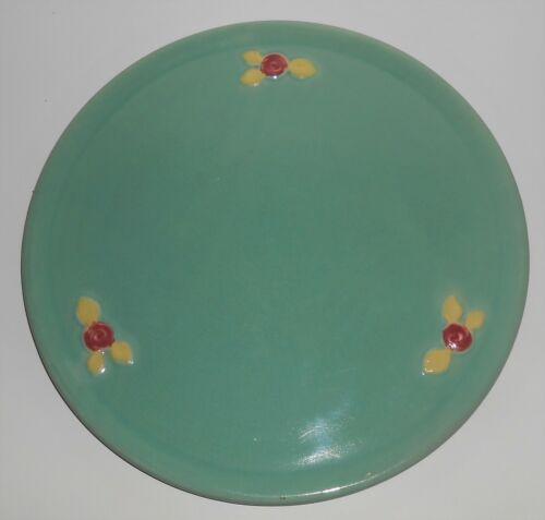 Coors Pottery Rosebud Green Cake Plate