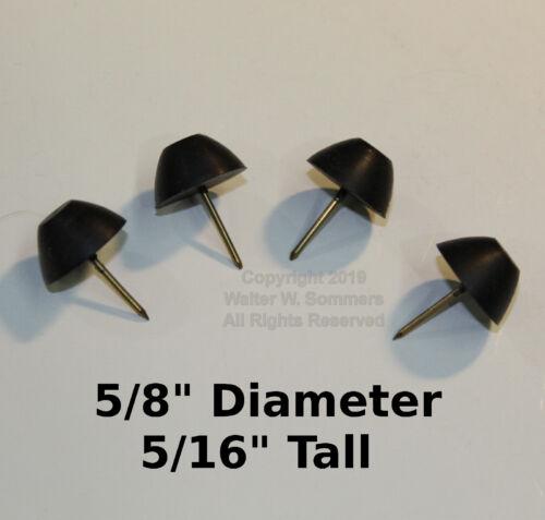 "(4) 5/8"" Rubber Cabinet/Case Feet Tack Bumper Victor Victrola/Edison Phonograph"