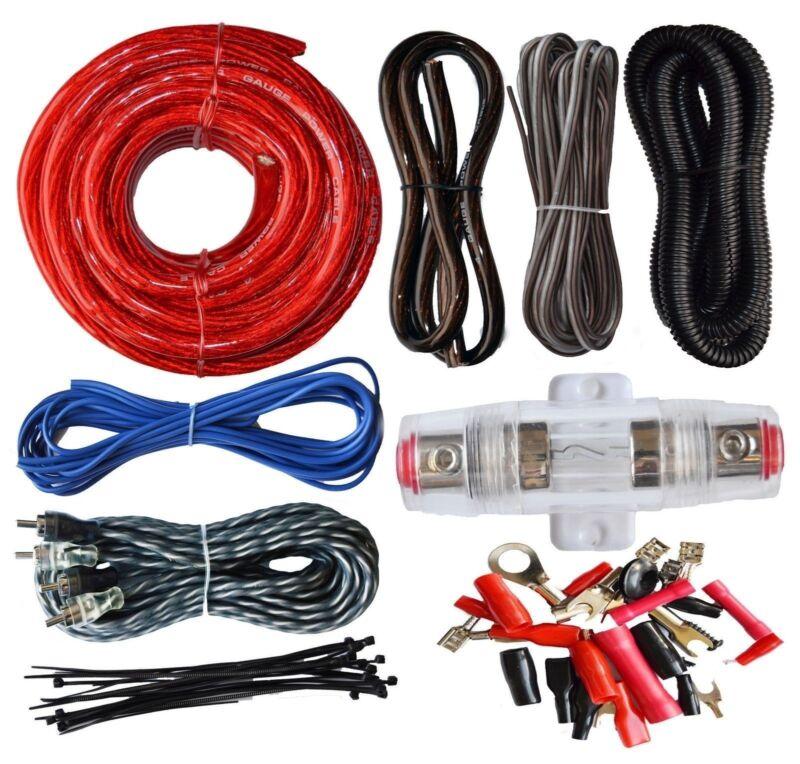 SoundBox ECK4, 4 Gauge Amplifier Install Wiring Kit 4Ga Amp Install Cables 2200W