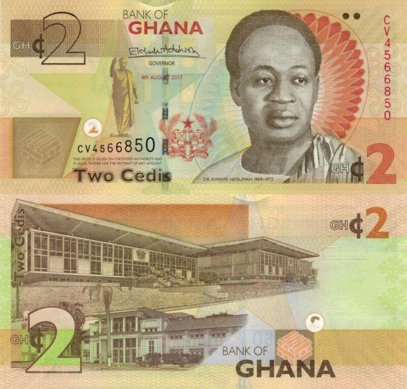 Ghana 2 Cedis (04.7.2017) - Kwame Nkrumah/Parliaments/p37Ae UNC
