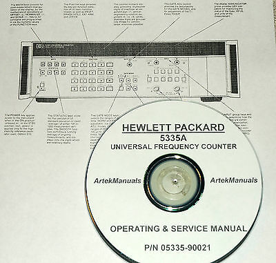 Hewlett Packard Ops Service Manual For The 5335a Universal Frequency Counter
