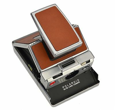 Polaroid SX-70 Replacement skin cover - Tan Genuine Leather
