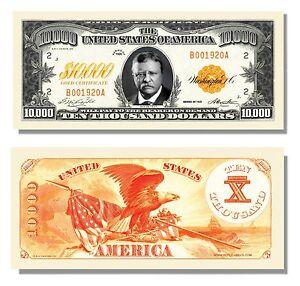 100-Factory-Fresh-10-000-Gold-Certificate-Bill