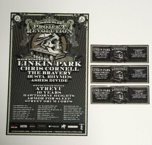 Linkin Park Chris Cornell *Projekt Revolution 2007 Poster + Sticker Set RARE OOP