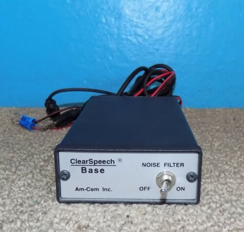 Am-Com Inc. Clear Speech Base Noise Filter Good Condition Free Shipping