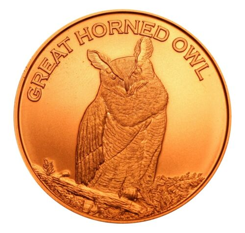 1 oz Copper Round - Great Horned Owl