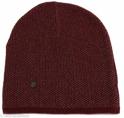 0099caf17dce32 NEW/AUTHENTIC GUCCI 352350 Men's Small Beanie Ski Hat, Burgundy/Beige