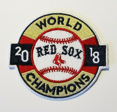 (1) WORLD SERIES 2018 BOSTON RED SOCKS EMBROIDERED BASEBALL PATCH ITEM # - Boston Red Socks