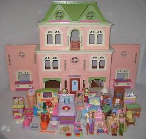 FISHER PRICE LOVING FAMILY GRAND DOLL HOUSE 3 SETS LIGHT & SOUND Inala Brisbane South West Preview