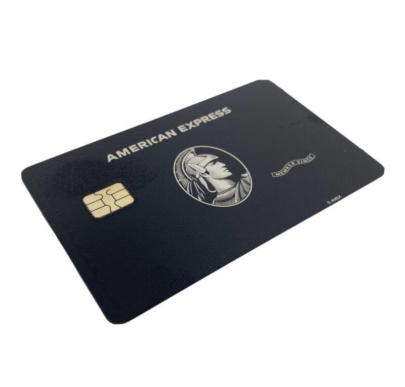 🇺🇸 American Express AMEX METAL Black Card *BLANK* READ DESCRIPTION* Small Chip