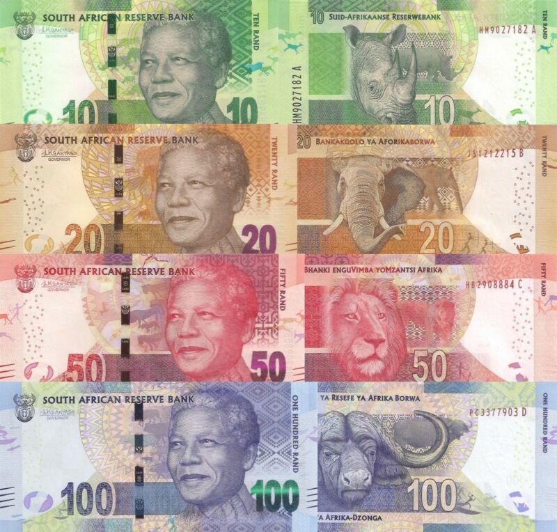 South Africa 4 Note Set: 20, 50 & 100 Rand (ND/2016) - p139b, p140b, p141b UNC