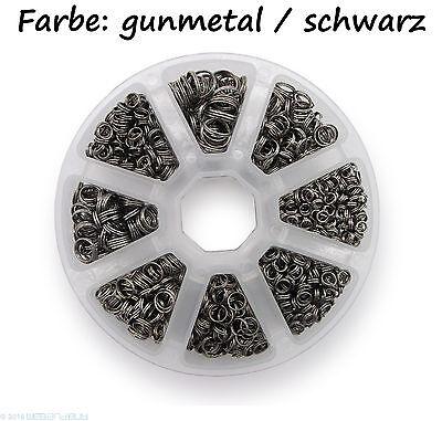 Schlüsselringe Set 4-10mm Durchmesser Farbe Schwarz / gunmetal