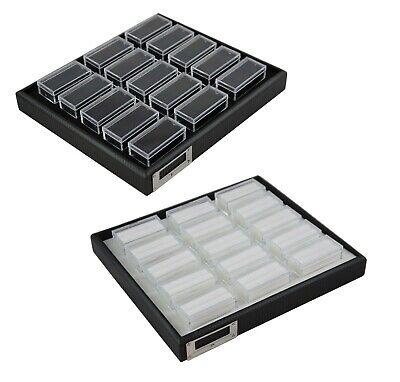 Stackable Gem Jar Display Trays with 15 Rectangular Jars - Gem Stone Organiser Display-trays