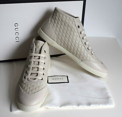 GUCCI Damen Schuhe Sneakers Microguccissima Leder mystic white Größe 39 Gucci White Sneakers
