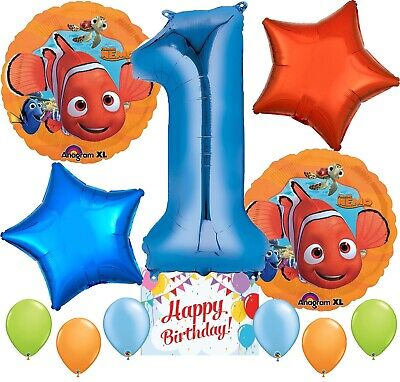 Finding Nemo Party Supplies Balloons Decoration Bundle for 1st Birthday