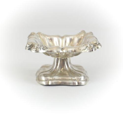 Austrian Silver Nut Mustard Pedestal Footed Dish, c1900
