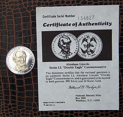 National Historic Mint   Double Eagle Collection Abraham Lincoln
