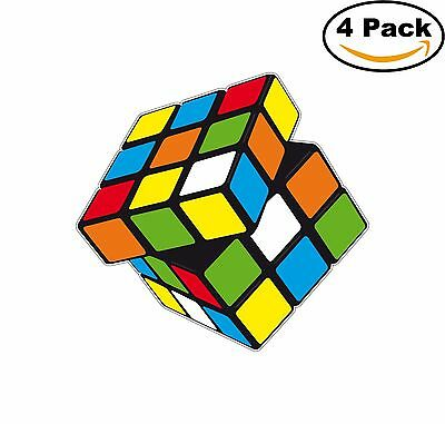 Rubiks Cube Decal Diecut Sticker 4 Stickers ()