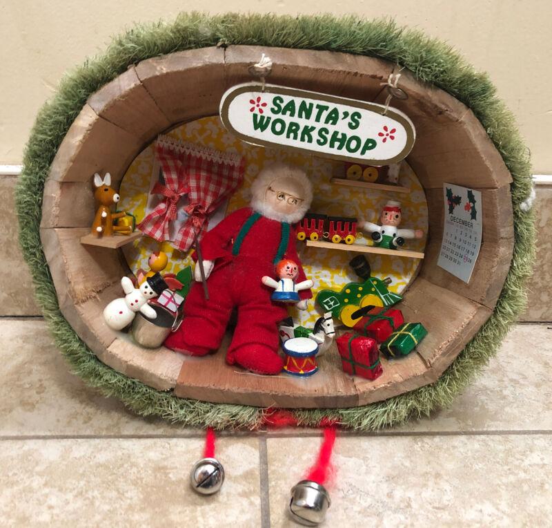 Vintage 1975 Enesco Santas Workshop Christmas Decoration