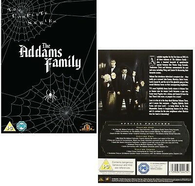 THE ADDAMS FAMILY 1-2 (1964-1966): COMPLETE Adams TV SERIES - NEW R2 DVD not US