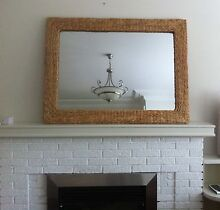 Large Mirror with Woven detail. Perfect for beach decor Chatswood West Willoughby Area Preview