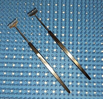 Set Of 2 Padgett P-4829 Miller Rake Retractor 9 Prongs Blunt Length 5-14