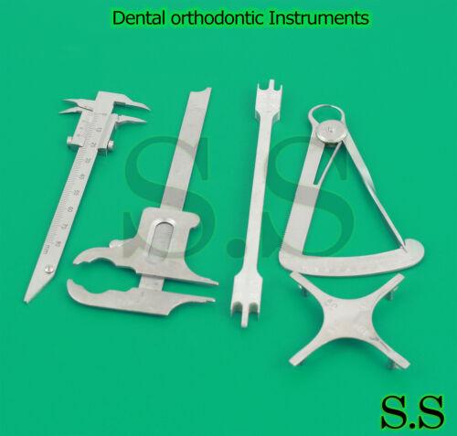 Dental Orthodontic Instruments Ortho Bracket Positioning Gauges Caliper New