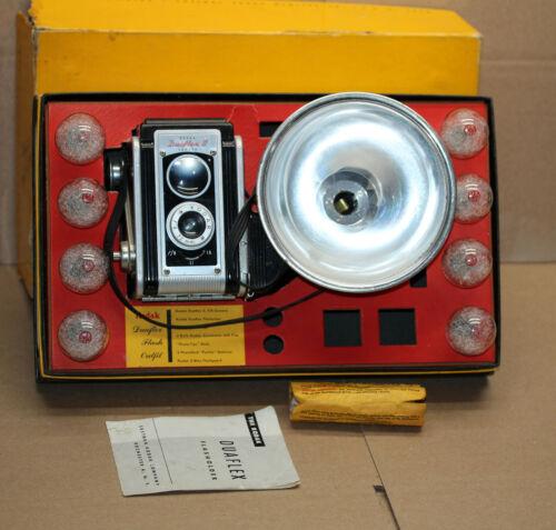 1950s Kodak Flash Outfit Duaflex II Box Camera Orig Box 620 Film Kodet Lens